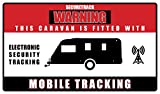 coverandcarry Caravan tracking device warning sticker produced in vinyl