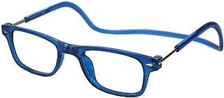 8522d6fa00 Aszhdfihas Cuello Colgante Ancianos Gafas Especiales Imán Gafas de Lectura  Lectores (Color : Azul,