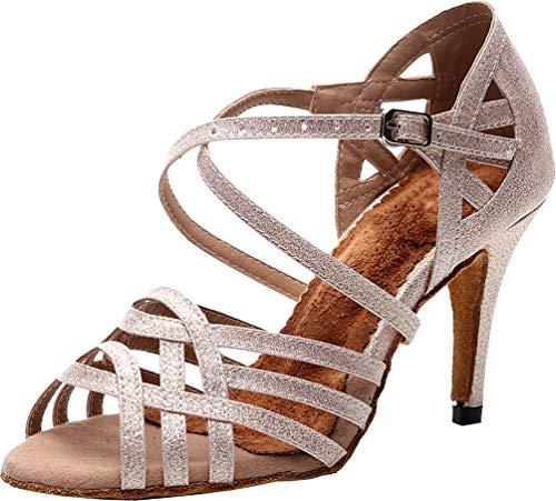 Zapatos de baile de tacón personalizado para mujer, estilo latino, moderno, Rumba,...