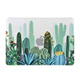 iDonzon Case for MacBook Air 13 inch M1 A2337 A2179 A1932 2020 2019 2018 Release, 3D Effect Matte Clear See Through Hard Cover Compatible Mac Air 13.3 inch with Retina Display Touch ID, Cactus Pattern