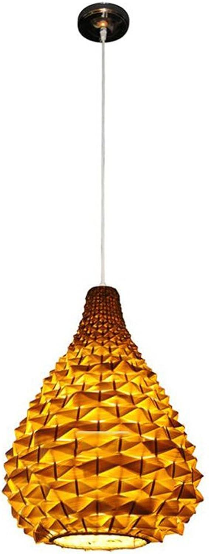 & Luminaires Intérieur l'étude chambre bureau Lustre en bambou Manuel Creative Restaurant rural Salon de thé Lustre Chambre Balcon Couloir Lumière E27 (taille   22  29cm)