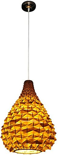 Lumière Lustre en bambou Manuel Creative Restaurant rural Salon de thé Lustre Chambre Balcon Couloir Lumière E27 Plafonnier (taille   22  29cm)