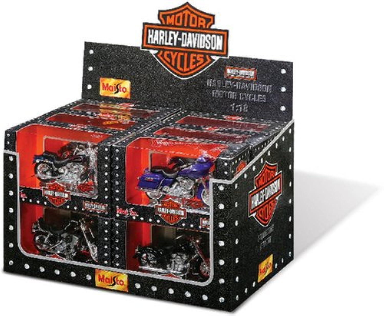 1 18 Harley Serie im Display mit 12 Stück