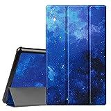 Fintie Hülle für Das Neue Amazon Fire HD 10 Tablet (9. & 7. Generation - 2019 & 2017) - Slim Cover Lightweight Schutzhülle Tasche mit Standfunktion & Auto Schlaf/Wach Funktion, Sternenhimmel