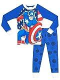 Marvel Captain America Boys' Captain America Pajamas Size 5 Blue
