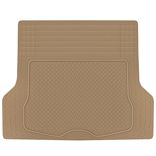 Heavy Duty Cargo Liner Floor Mat-All Weather Trunk Protection, Trimmable to Fit & Durable HD Rubber Protection for Car SUV Sedan Auto, Beige (MT785BGAMw1)