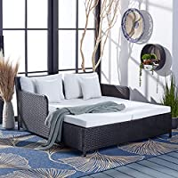 SAFAVIEH Outdoor Cadeo Daybed with Pillows and Cushions