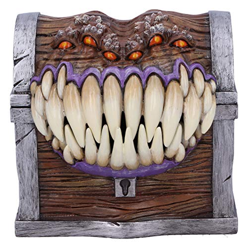 Nemesis Now Offiziell lizenzierte Dungeons & Dragons Mimic Würfel-Aufbewahrungsbox, braun, 11,3 cm