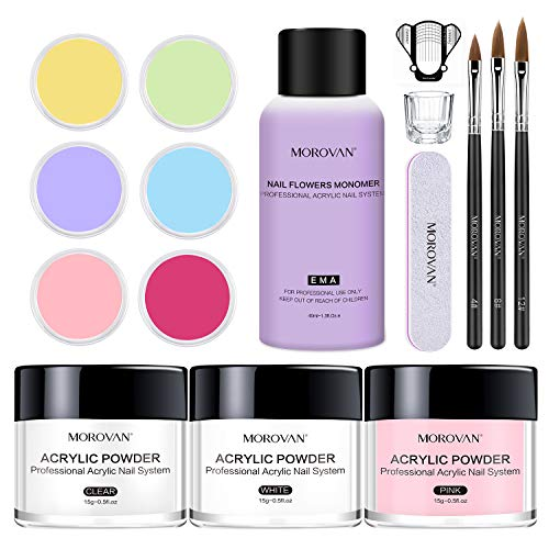 Morovan Acrylic Nail Kit Acrylic Powder with...