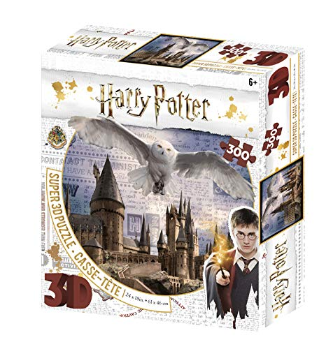 Harry Potter Hogwarts and Hedwig 3D Jigsaw Puzzle 300 Piece Multi-colour