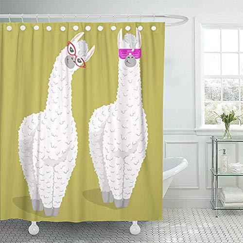Searster$ Shower Curtain Cortina baño Llama Cute