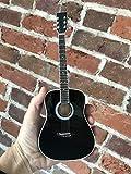 FanMerch Mini Guitar Johnny Cash Collectible Black Acoustic Guitar Replica