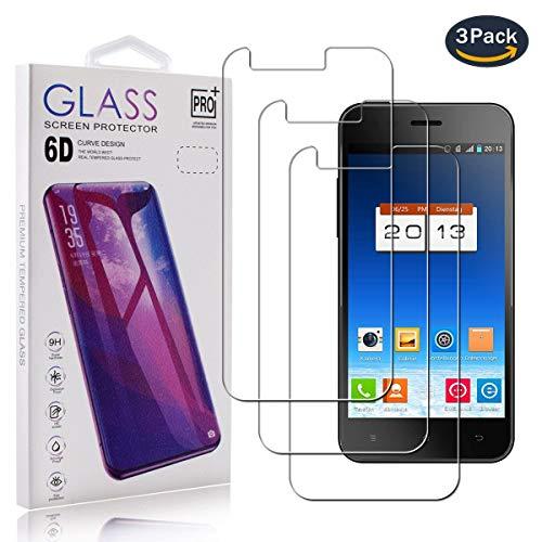 pinlu [3 Stück Panzerglas Displayschutzfolie für Phicomm X100,Transparent Glasfolie Protector 9H Härtegrad Schutzglas,99% Transparenz,HD Screen,Einfaches Anbringen