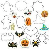 10 Piezas Juego de Cortadores de Galletas de Halloween, Truco o Invitación de Halloween Cortador de la Galleta Set Moldes de Galleta Molde de la formación de Hielo de la Pasta de azúcar