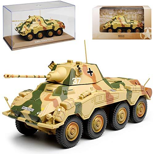 Atlas Sd. Kfz. 234/2 Puma Beige Panzerspähwagen 1/43 Modell Auto mit individiuellem Wunschkennzeichen