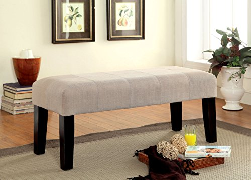 Furniture of America Brandie Upholstered Accent Bench, Ivory