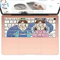 igsticker MacBook Air 13inch 2018 専用 キーボード用スキンシール キートップ ステッカー A1932 Apple マックブック エア ノートパソコン アクセサリー 保護 015291 七夕 ひこぼし 星 おりひめ