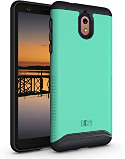 Nokia 3.1 Case, TUDIA [Merge Series] Dual Layer Heavy Duty Reinforced Military Standard Extreme Drop Protection/Rugged with Slim Case for Nokia 3.1 [ONLY Compatible with Nokia 3.1] (Mint)