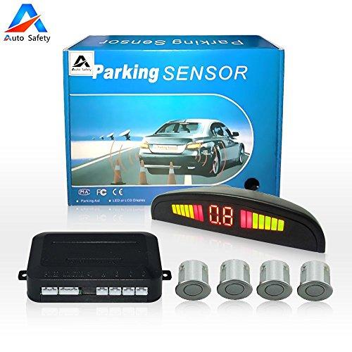 Car Reverse Backup Radar System Auto safety Parking Sensor kit,LED Dispaly + Human Voice Alert +4 sensors+4 Colors