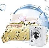 JSY Cool im Sommer waschbare Baumwolldecke für Klimaanlage, trocken und atmungsaktiv, dünne Faser, für einen angenehmen Schlaf bei Nacht, Patchwork-Steppdecken (Größe: 150 x 220 cm)
