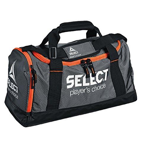 Select Verona Sporttasche, S: 52 x 20,5 x 28 cm, grau schwarz orange, 8170000111