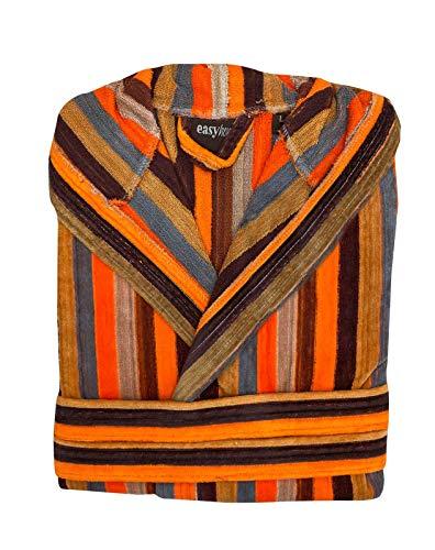 EASY HOME Bademantel für Damen aus Frottee mit Kapuze und Taschen MOD.Missouri aus weichem Frottee, 100% Baumwolle. Italienisches Design. L Variante 4
