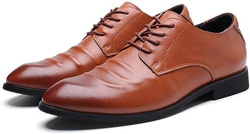 Tastak Chaussures en cuir en cuir Première couche de bovins for hommes d'affaires Décontracté Chaussures habillées for hommes British Soft Face petit chaussures Faible for aider à porter des chaussures antidérapan
