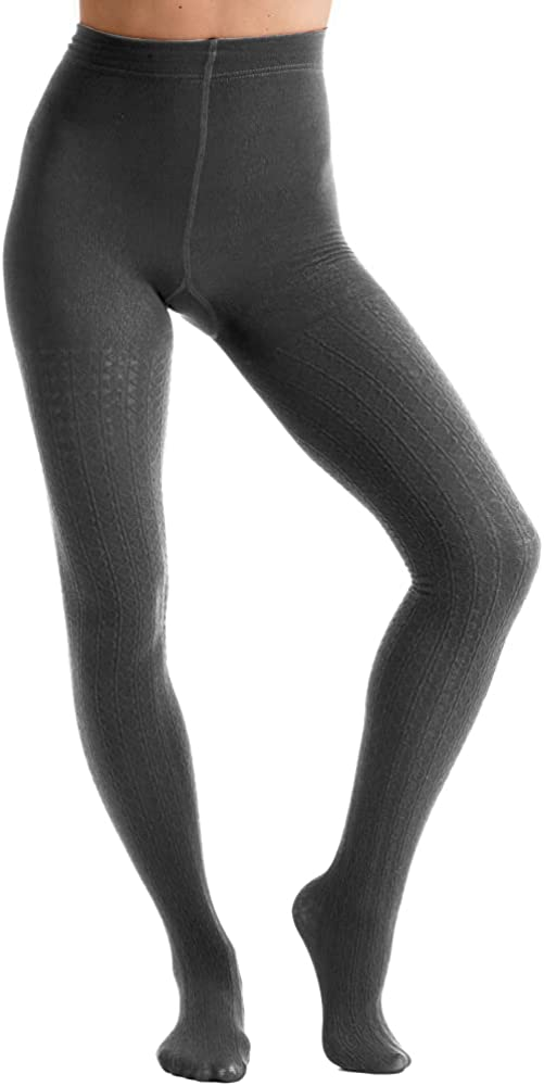 Couture Womens/Ladies Fashion Cable Fleece Tights (1 Pair)