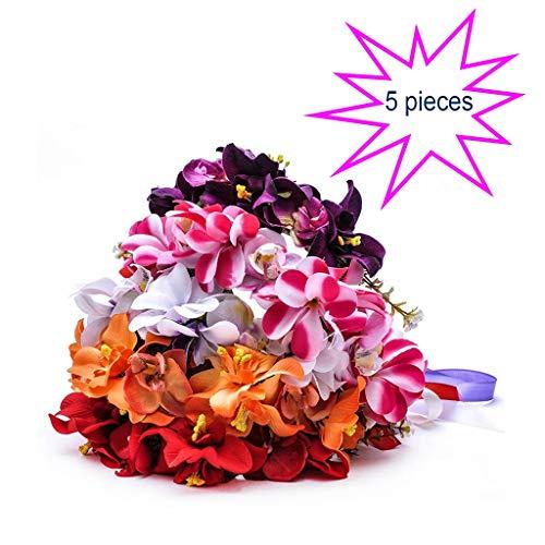 Ppzmd, Ghirlanda di Fiori (5 Pezzi), Cerchietto per Capelli per Donne, Sposa, Matrimonio, Festival Regalo, Ghirlanda Multicolore Q