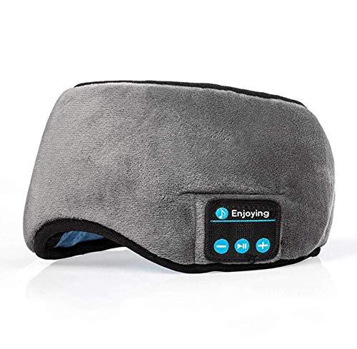 GaoF Bluetooth écouteur Masque de Sommeil Prend en Charge Mains Libres Masque pour Les Yeux de Sommeil stéréo