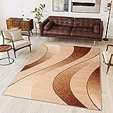 Tapiso Alfombra De Salón Moderna – Color Beige Diseño Rayas – Varias Dimensiones S-XXXL 130 x 190 cm