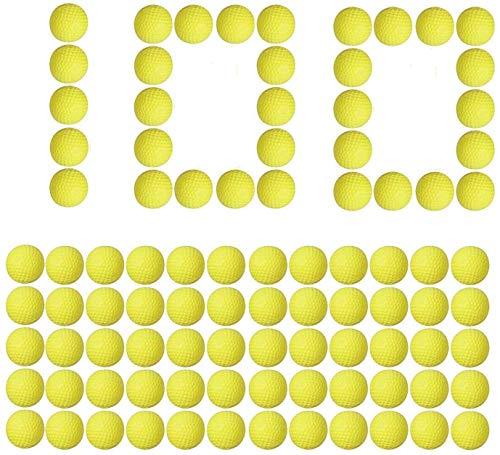 LVHERO Recharge de 100 Billes Balle Flechettes pour la série Mousse Nerf Rival