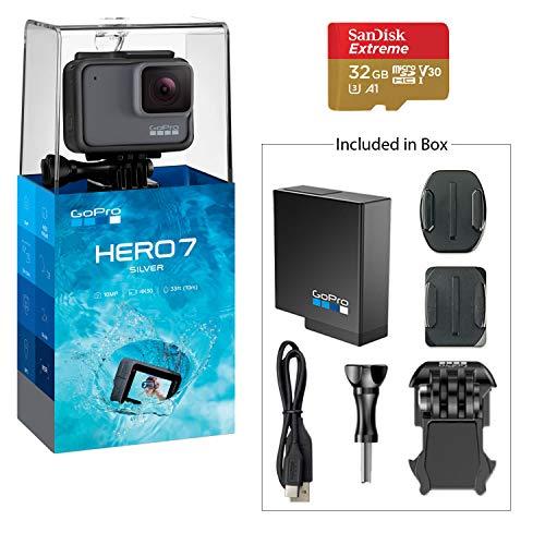 GoPro HERO7 Silver Action Camera w/ 32 GB Micro...