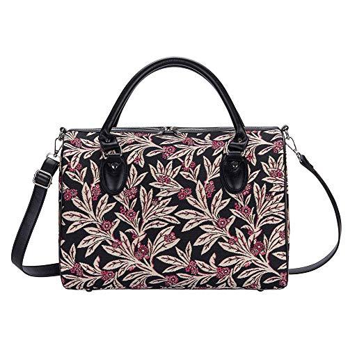 Signare Tapestry Borsone da Viaggio Donna, Borsone Palestra Donna, Weekender Travel Bag con disegni delle collezioni V&A (Golden Fern)