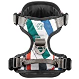 Embark Urban Dog Harness, Easy On and Off with Front and Back Leash Attachments & Control Handle - No Pull Training, Size Adjustable and Non Choke Dog Harnesses Medium Size (Medium, Multi)