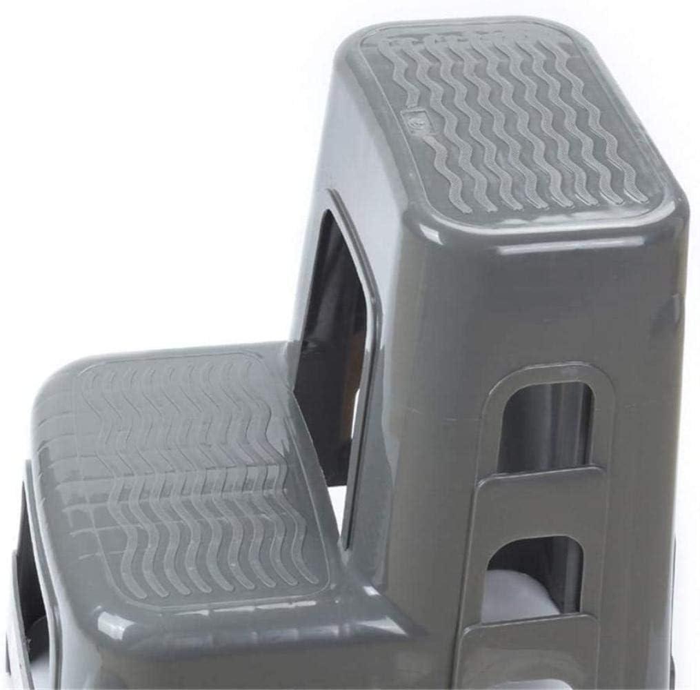Panier sale Escabeau Deux étages Pédale Échelle, Lavage de Voiture Tabouret de Loisirs Tabouret Plastique Repose-Pieds/escabeaux Animaux chaises Pliantes (Color : Gray) Gray