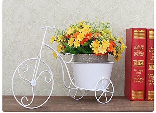 WEBO HOME- Syllabus racks de fleurs accessoires de bureau ornements racks pots de fleurs stockage de bureau -Étagère (Couleur : Blanc)