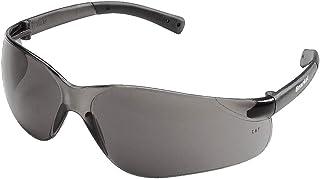 Crews BK112 BearKat Polycarbonate Gray Lens Safety Glasses, with Non-Slip Hybrid Black Temple Sleeve, 1 Pair