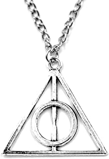 DiER Harry Potter Theme Necklace The Deathly Hallows Pendant Silver