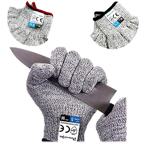 2-Dowellife Cut Resistant Oyster Shucking Gloves