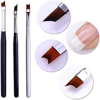 Nail Brush Set UV Led Gel Painting Drawing Pen Black Silver Green Handle Manicure French Tips Kit Nail Art Tool