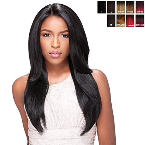 Sensationnel Empress lace wig front edge STRAIGHT (CUSTOM WIG) L parting-HRF - Wig / Lace Wig (1 (deep black)) by Empress Lace Wig