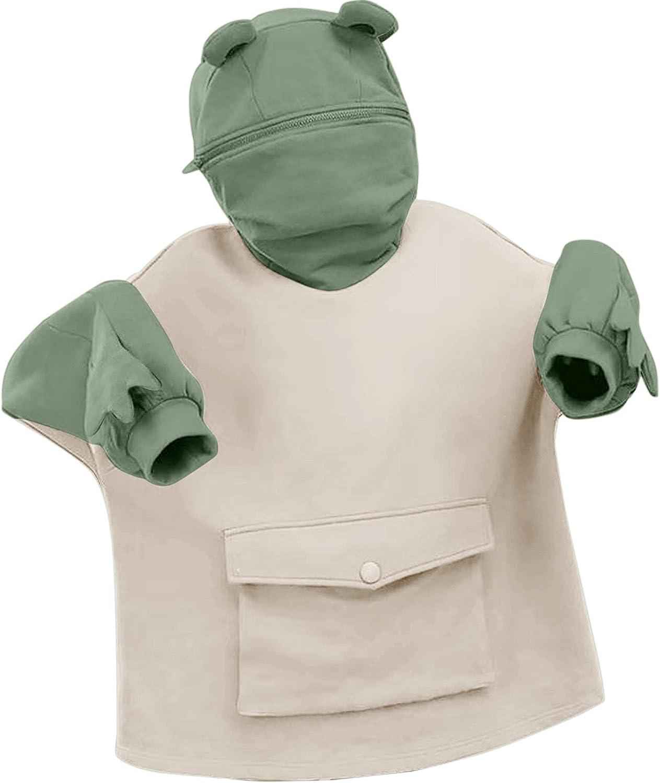 Sweatshirt for Women Teen Girls Cute Skateboarding Frog Printed Long Sleeve Hoodie Pullover Tops Casual Tops Shirts