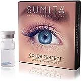 SUMITA Color Perfect (Blu Brillante) Lenti a Contatto Colorate, Lenti a Contatto Mensili, morbide, durata di 1 mese,Proteggono gli occhi dai raggi UV, Non Graduate, Made in Corea