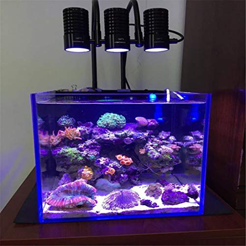 Tanque de peces marinos de coral ligero crecimiento de mini nano acuario acuario de arrecife blanco púrpura azul de iluminación de...
