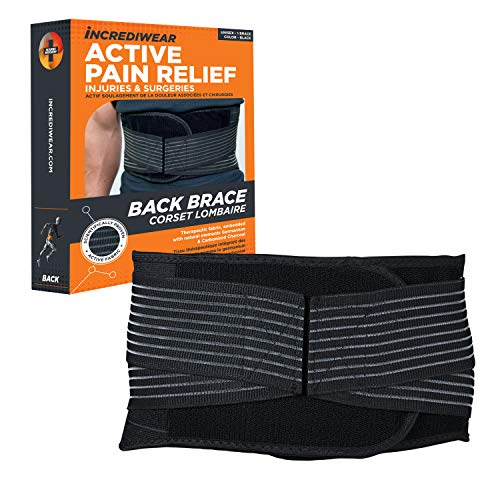 Incrediwear Back Brace - Back Support Brace for Back Pain Relief from Muscle Pain, Sciatica or a Herniated Disc, Everyday Lower Back Lumbar Support (2X-Large)