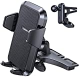 【Super Steady & Infinite View】CD Phone Holder for Car, TOLLEFE Phone Car Holder with 【360° Rotation】【1s Release & Clamp】 Phone Car Holder Fits iPhone 12 Mini/11/12Pro Max/11/XS/SE/8/7 Samsung and More