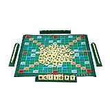 ZXIAQI Juego de Mesa de Scrabble en Inglés, Juego de Ortografía de Crucigramas para Niños Puzzles en Inglés Tablero Tabla de Ortografía Rompecabezas Palabras Juguetes de Ayuda Didáctica