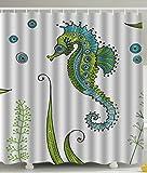 CHATAE Venus Sandy Seepferdchen Wasserdicht Polyester Duschvorhang 152,4x 182,9cm Zoll