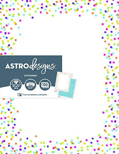 Astrodesigns 2-Sided Preprinted Stationery, 8.5